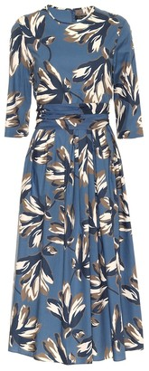 S Max Mara Petalo floral cotton midi dress