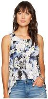 Kensie Tropical Blues Top KS6U4017 Women's Clothing