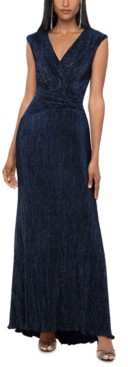 Xscape Evenings Ruched Glitter Gown