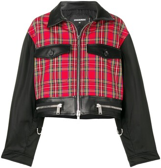 DSQUARED2 Contrast Panels Cropped Jacket
