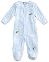 Kissy Kissy Mini Golf Striped Footie Pajamas, Blue, Size Newborn-12 Months