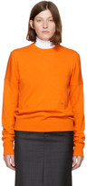 Calvin Klein Orange Cashmere Crewneck Sweater