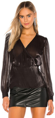 1 STATE Wrap Front Organza Blouse