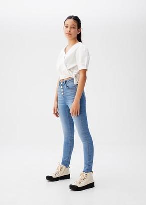 MANGO Bow crop shirt