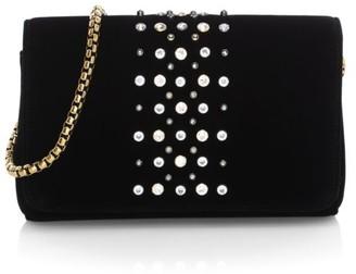 Eric Javits Astra Embellished Velvet Shoulder Bag
