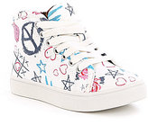 Steve Madden Girls T-Scribble Hi-Top Sneakers