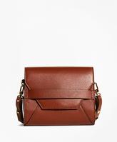 Brooks Brothers Pebble Calfskin Crossbody Bag