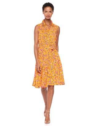 Nanette Lepore Nanette Women's Slvls Pintuck Shirtdress W/Sash Belt