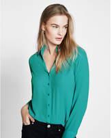 Express Slim Fit No Pocket Portofino Shirt