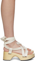Jil Sander White Strap Wedge Sandals