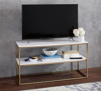 "Pottery Barn Delaney 42"" Marble Media Console"