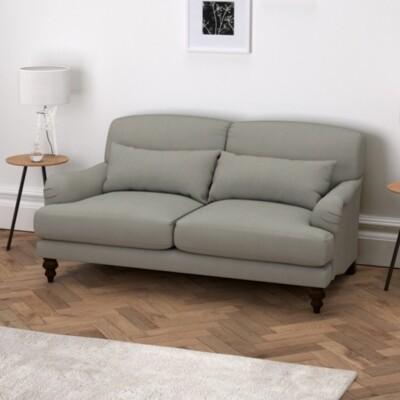 The White Company Petersham Cotton Sofa. One Size. Grey