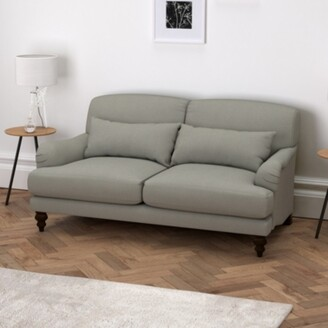 The White Company Petersham 3 Seater Sofa Cotton, Grey Cotton, One Size