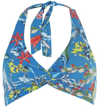 Figleaves Soft Halter Print Bikini Top