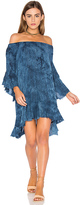 Blue Life Callista Ruffle Dress in Blue. - size L (also in M,S,XS)