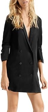 Halston Tuxedo-Style Blazer Dress