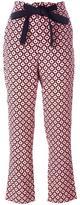 Marni geometric print trousers - women - Silk - 36