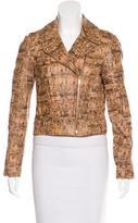 Diane von Furstenberg Leather Printed Jacket