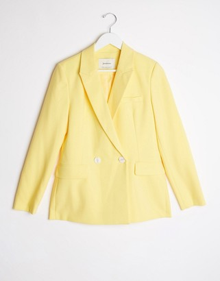 Stradivarius blazer in yellow