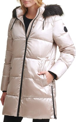 DKNY Women's Walker Puffer Down Alternative Coat