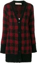 Marni longline plaid cardigan - women - Alpaca/Polyamide/Wool - 38