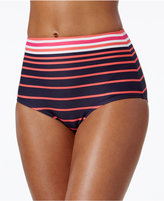 MICHAEL Michael Kors Abby Stripe High-Waist Bikini Bottoms