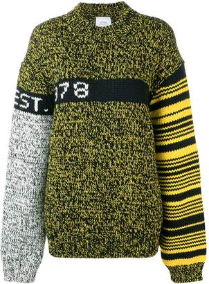 Calvin Klein Jeans Est. 1978 colour block oversized jumper