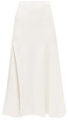 Ellery Suit High-slit Crepe Skirt - Ivory