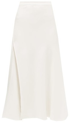 Ellery Suit High-slit Crepe Skirt - Womens - Ivory