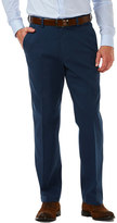 Haggar Men's Classic-Fit Textured Stretch Expandable Waistband Chino Pants