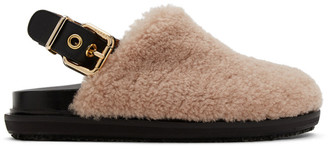 Marni Pink Shearling Fuzzy Fussbett Loafers