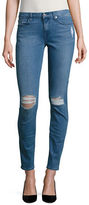 7 For All Mankind The Skinny Distressed Skinny Jeans