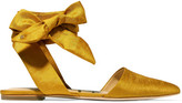 Sam Edelman Brandie Satin Point-toe Flats - Saffron