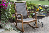 OUTDOOR INTERIORS Outdoor Interiors Resin Wicker and Eucalyptus Rocking Chair