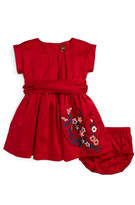 Tea Collection Akira Embroidered Cotton Dress (Baby Girls)