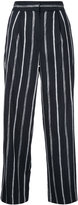 TOMORROWLAND stripe cropped trousers