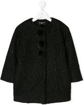 MonnaLisa pom pom detail coat