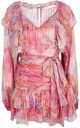 LoveShackFancy Moxie ruffled silk mini dress