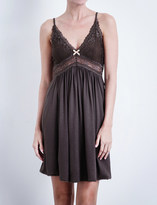 Eberjey Colette jersey and lace chemise