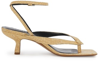 BY FAR Mindy 50 python-effect leather sandals