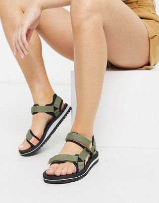 Teva universal trail chunky sandals in olive