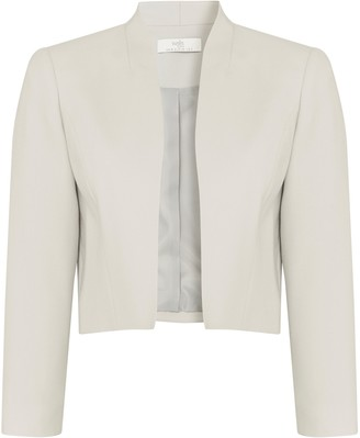 Wallis PETITE Grey Cropped Blazer