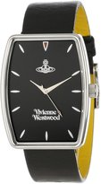 Vivienne Westwood Buckle Men's Quartz Watch with Black Dial Analogue Display and Black Leather Strap VV009BKBK