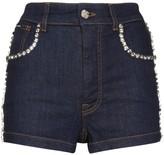 Dolce & Gabbana Swarovski crystal trim denim shorts