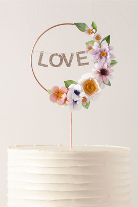 May Contain Glitter Love Wreath Cake Topper