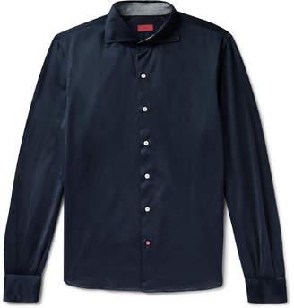 Isaia Slim-Fit Cotton-Jersey Shirt