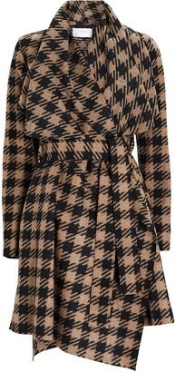 Harris Wharf London Checked Wool Blanket Coat