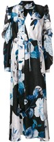 Off-White Off White floral print maxi dress multicolor