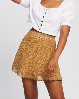 All About Eve Women's Brown Mini skirts - Lola Mini Skirt - Size One Size, 12 at The Iconic