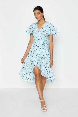 Coast Spotty Tie Front Detail Wrap Dress